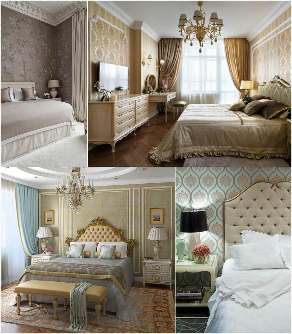 Спальня Классика - Отделка Стен - Спальня в Классическом Стиле