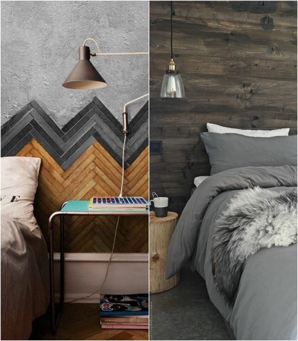 Скандинавский стиль спальня − Отделка стен в спальне − Спальня в скандинавском стиле