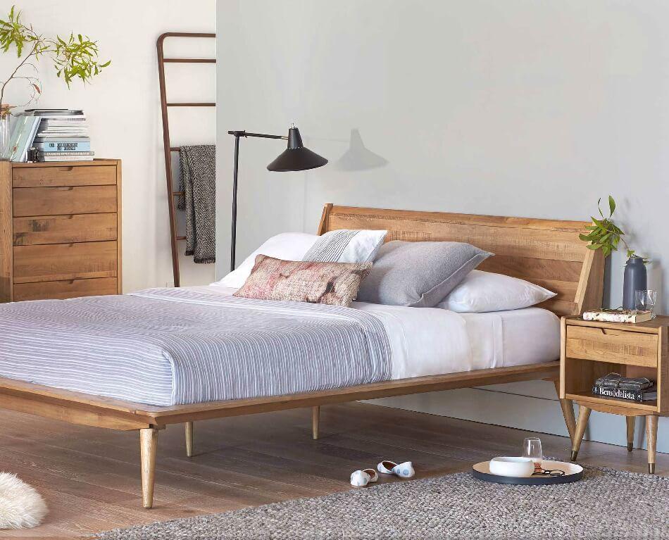 Скандинавский стиль спальня − Отделка пола спальни − Спальня в скандинавском стиле