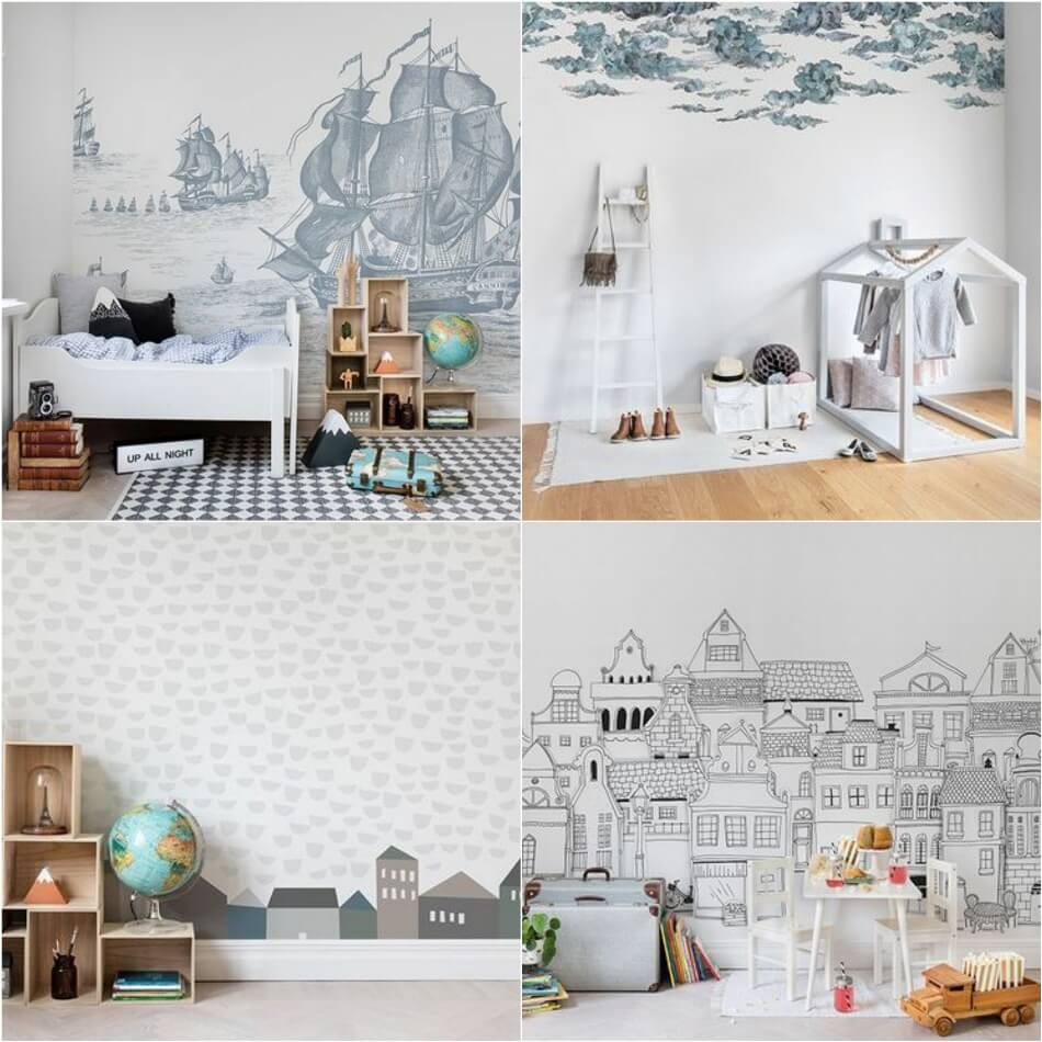 Дизайн Комнаты для Мальчика − Обои в комнате для мальчика