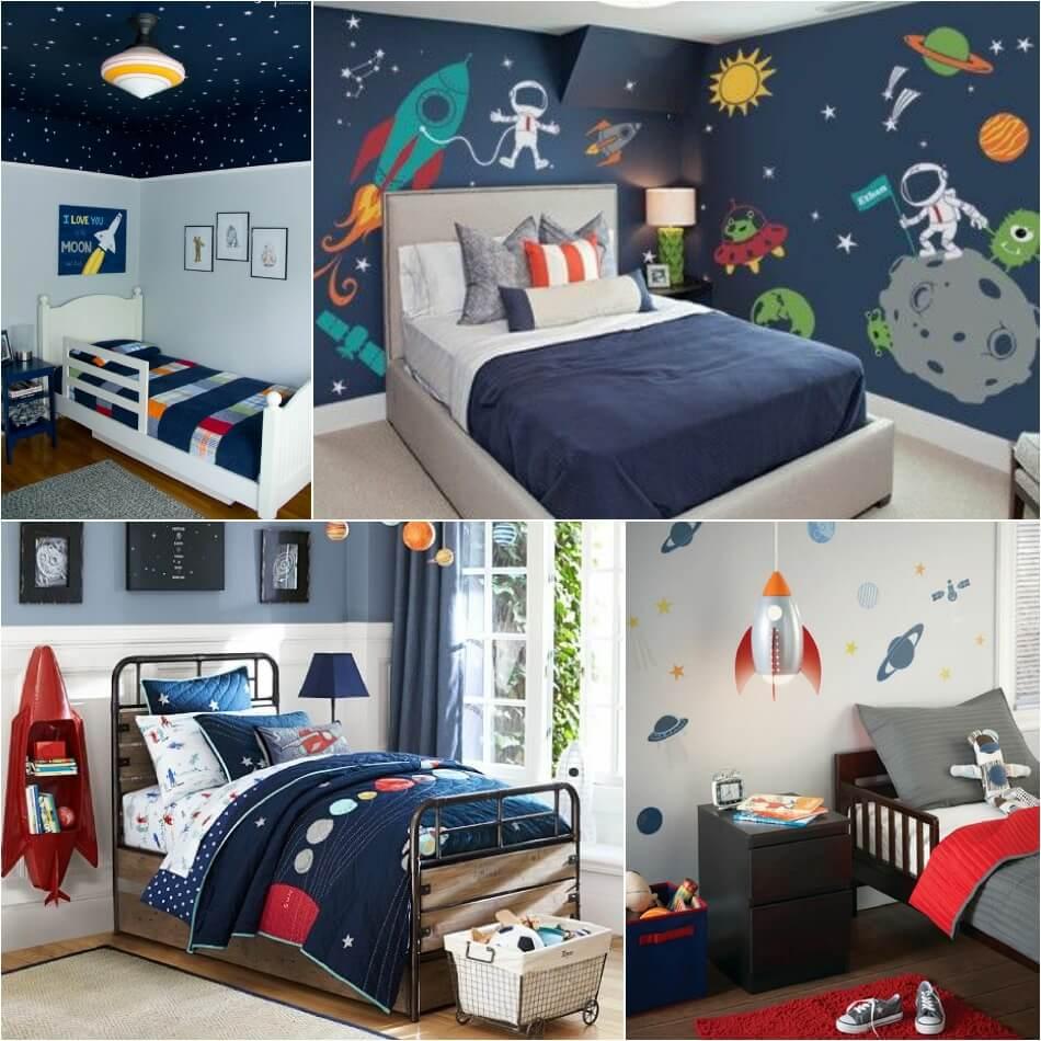 Интерьер Детской Комнаты для Мальчика − Детская Космос − Детская для Мальчика