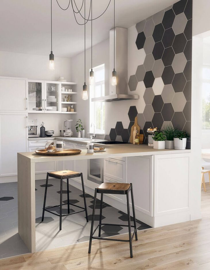 Барная стойка на кухне − Кухни с барной стойкой