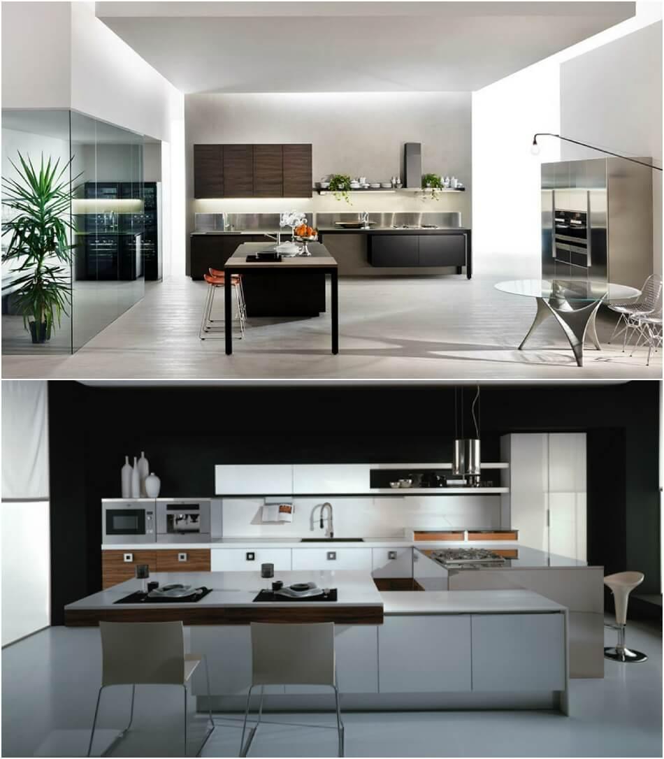 Белая Кухня - Белая Кухня Хай Тек - Дизайн Интерьера Белой Кухни