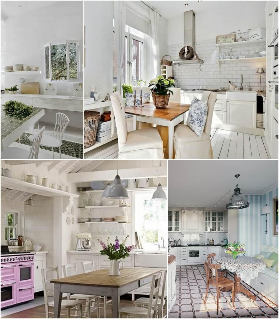 Белая Кухня - Белая Кухня Прованс - Дизайн Интерьера Белой Кухни