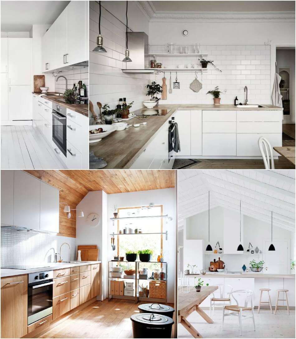 Белая Кухня - Белая Кухня в Скандинавском стиле - Дизайн Интерьера Белой Кухни