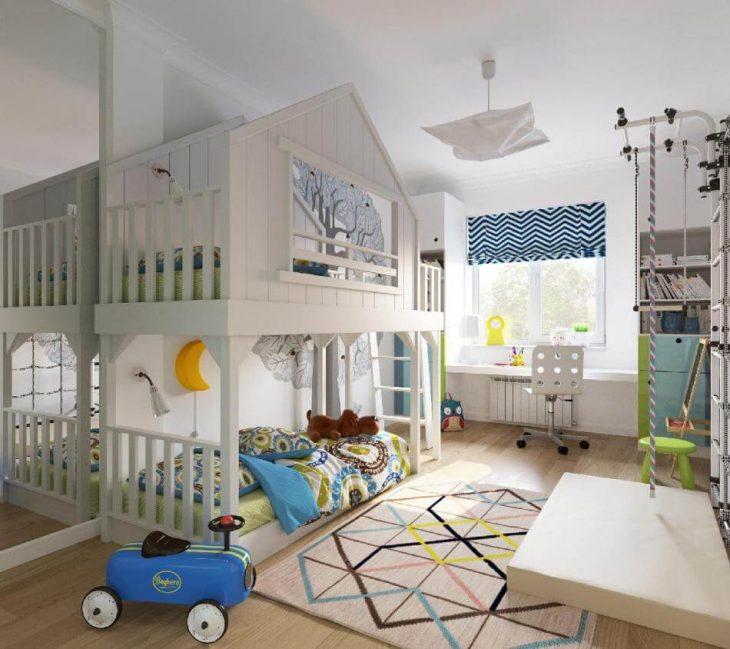 Детская Комната для Мальчиков −Детская для Двоих