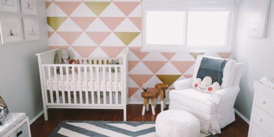 Детская для Девочки − Оформление Стен в Детской Комнате − Цвет Детской Комнаты