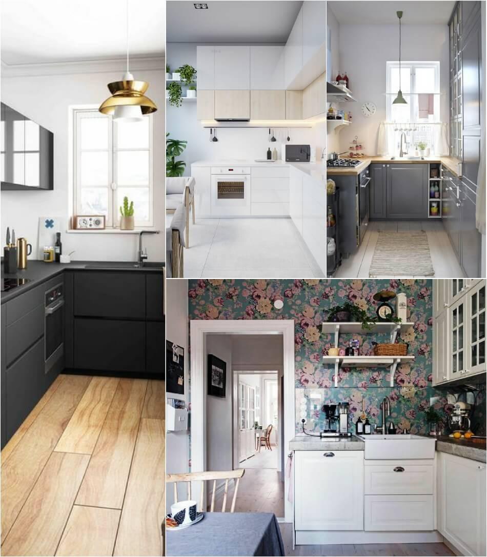 Маленькая Кухня - Г-образная кухня - Дизайн Маленькой Кухни