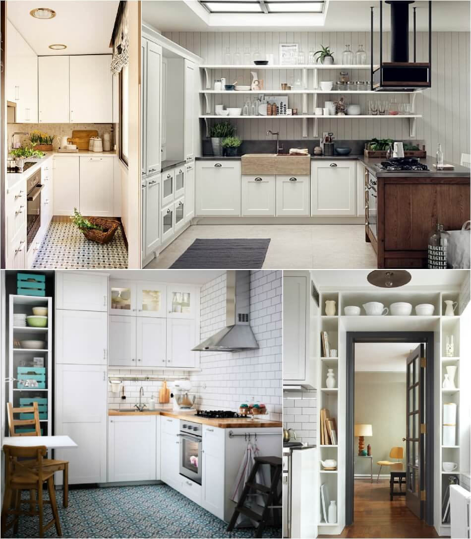Маленькая Кухня - Гарнитур с ярусом - Дизайн Маленькой Кухни