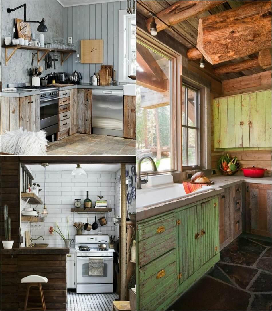 Маленькая Кухня - Кухня кантри - Дизайн Маленькой Кухни