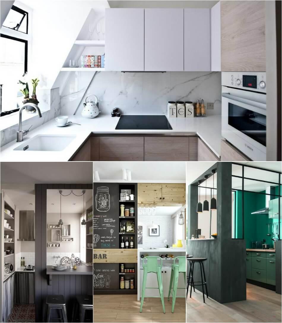 Маленькая Кухня - Кухня-квадрат - Дизайн Маленькой Кухни
