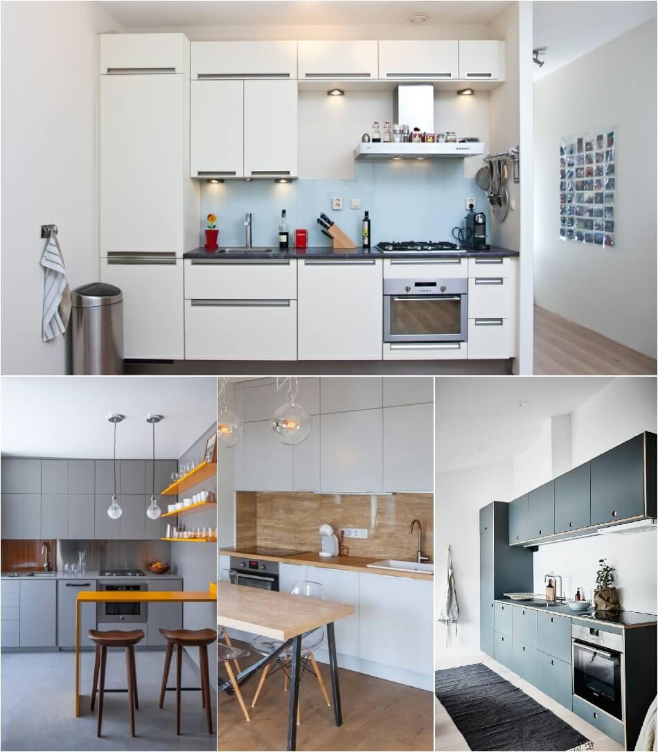 Маленькая Кухня - Кухня-линейная - Дизайн Маленькой Кухни