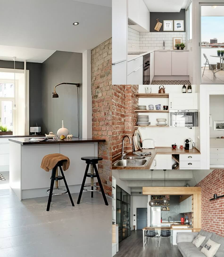 Маленькая Кухня - Кухня лофт - Дизайн Маленькой Кухни