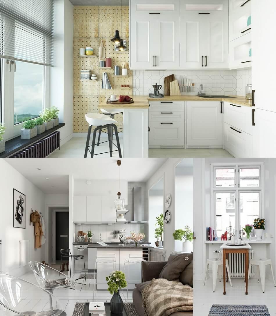 Маленькая Кухня - Кухня в скандинавском стиле - Дизайн Маленькой Кухни