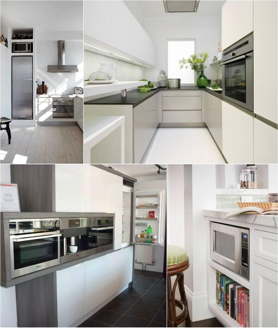 Маленькая Кухня - Встроенная техника - Дизайн Маленькой Кухни
