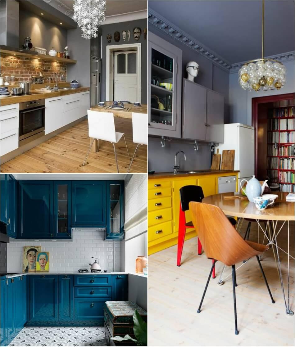Маленькая Кухня - Яркие цвета на кухне - Дизайн Маленькой Кухни
