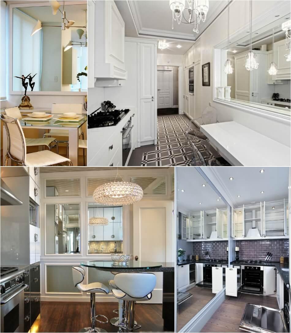 Маленькая Кухня - Зеркала на кухне - Дизайн Маленькой Кухни