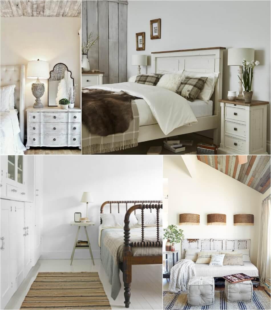 Спальня Кантри – Отделка стен - Интерьер Спальни в Стиле Кантри
