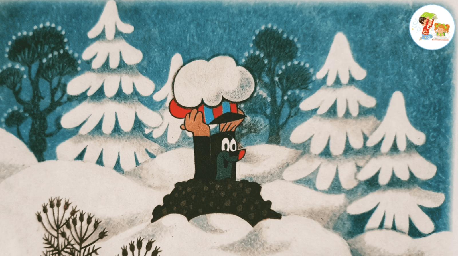 Новые Детские аудио сказки онлайн - Кротик и Снеговик - кротик слепил снеговика
