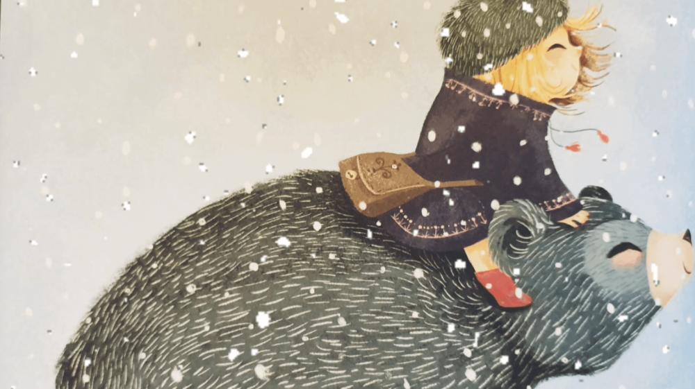 Рождественская сказка про девочку Эллу и медведя